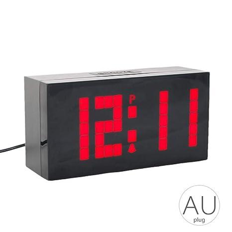 Alarma Mesa LED Digital del Reloj de Pared para Montar en los Grandes números del Temporizador