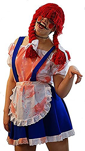 Halloween-Stage-Panto-Fancy Dress POSSESSED RAG DOLL Costume - All Ages (AGE 11-13)