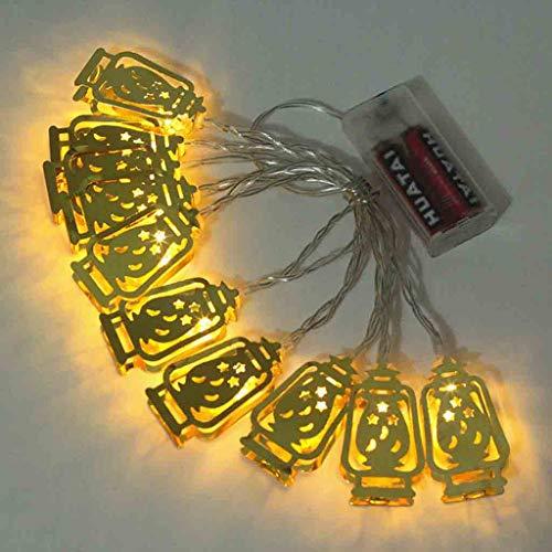 (CCatyam Ramadan and Eid Decor Lights LED Light Fairy String Home Festival Party Bedroom Birthday Decoration Favor Nice DIY Tropical (Yellow))