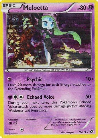 Pokemon - Meloetta (78/113) - Legendary Treasures - Holo (Meloetta Card)