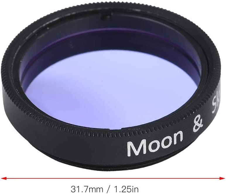 Mugast 1.25 Inches Telescope Moon Filter Eyepieces Filters for All Standard Sized 1.25 Eyepieces and Accessories