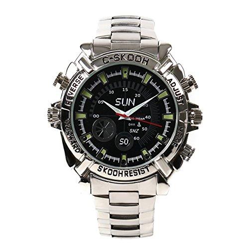 Ugetde® Full Hd 1920x1080p Mini Camera W2000 Infared Night Vision 16gb Waterproof Watch DVR