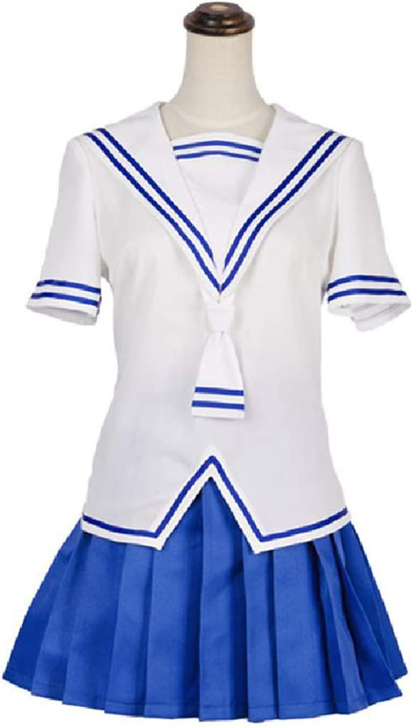 ZY Anime Uniforme Cosplay Uniforme Niñas De La Escuela Fijado Bola del Partido,White-XS
