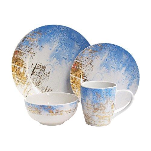American Atelier Dinnerware (American Atelier 7114-16-RB Soiree Sea Salt Dinnerware Set, 10.5