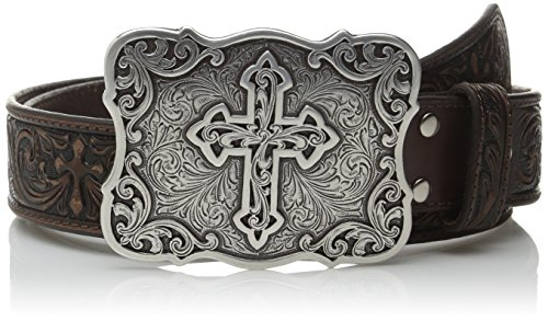 Nocona Ladies Brown Belt (Nocona Women's Large Cross Buckle Belt, Brown,)