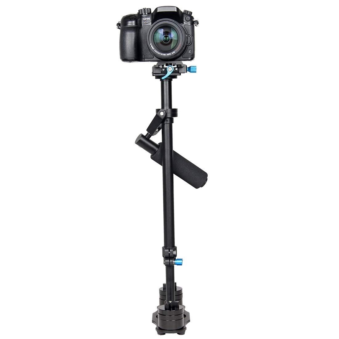 カメラアクセサリー S60L 61cm カーボンファイバーメタル 手持ちスタビライザー デジタル一眼レフカメラ DVカメラ用品   B07R1HXC48