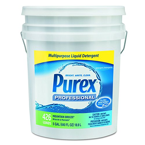 Purex 06354 Concentrate Liquid Laundry Detergent, 5 gal Capacity, Mountain Breeze, Pail Deep Cleaning Laundry Detergent