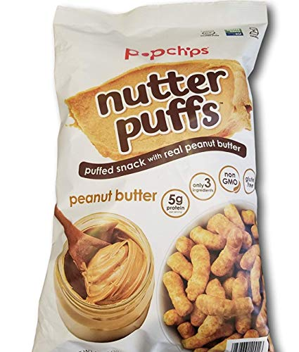 PopChips Nutter Puffed Real Peanut Butter Snack 4oz, 2 Pack (Peanut Butter)