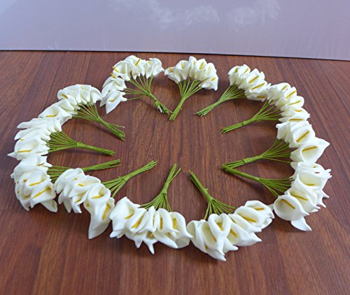 12 Sets 144 Pieces Miniature Calla Lily Artificial Flower Wedding Gift Box Decorative Flowers Artificial Arrangement