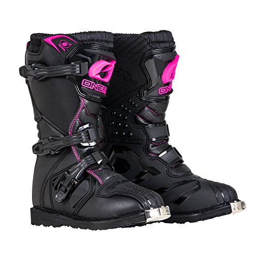 (O'Neal Girls New Logo Rider Boot (Black/Pink, Size 2))