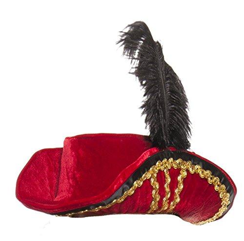 Starline Women's Midnight Pirate Hat, Red, One Size -