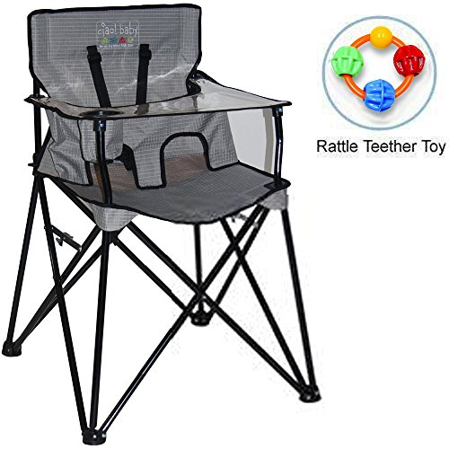 ciao baby - Portable High Chair with Rattle Teether Toy - Gr
