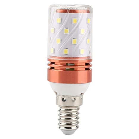 Riuty 5 unids E14 8W lámpara LED de maíz, Color Doble, frío, Blanco