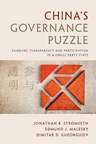 Download China's Governance Puzzle: Enabling Transparency and Participation in a Single-Party State pdf