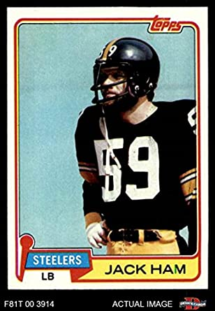 finest selection 27b54 51972 Amazon.com: 1981 Topps # 235 Jack Ham Pittsburgh Steelers ...