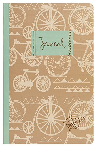 Bicycle Journal (C.R. Gibson Flex Bound Journal, 128 Pages, Measures 5.5