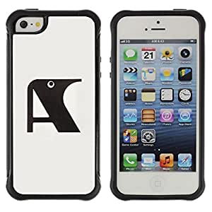 iArmor Hybrid Anti-Shock Defend Case A Raven Initial Letter Grey Black Apple iPhone 6 4.7