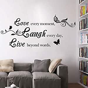 English love, laugh, live living room bedroom wall sticker
