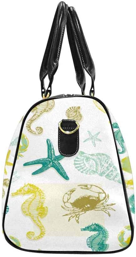 InterestPrint Carry-on Garment Bag Travel Bag Duffel Bag Weekend Bag Marine Life