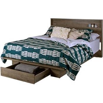 Amazon Com Full Queen Storage Platform Bed And Headboard