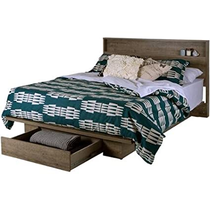 Full Queen Storage Platform Bed And Headboard