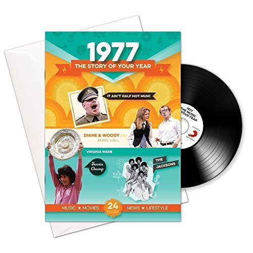 1977 Birthday or Anniversary Gifts - 1977 4-In-1 Card and Gift - Story of Your Year , CD , Music Download (Gifts For 40th Anniversary)