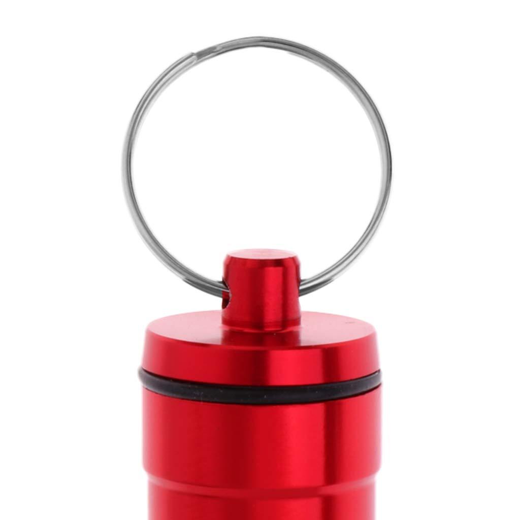 perfeclan Caja De La Caja De Almacenamiento De Los Accesorios del Dardo De La Aleaci/ón De Aluminio De 2 Pedazos con El Llavero para Llevar Conveniente