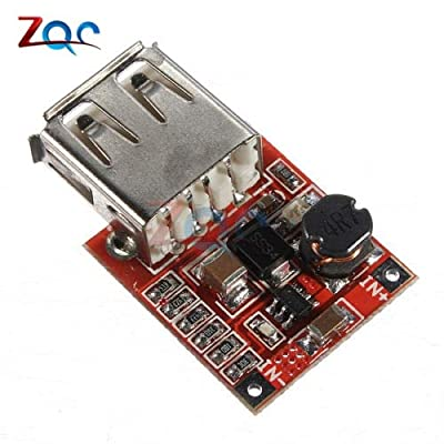 DC-DC Converter Step Up Boost Power Supply Module Adjustable 2.5-6V to 4-12V 1A USB Charger Board for Phone MP3/MP4