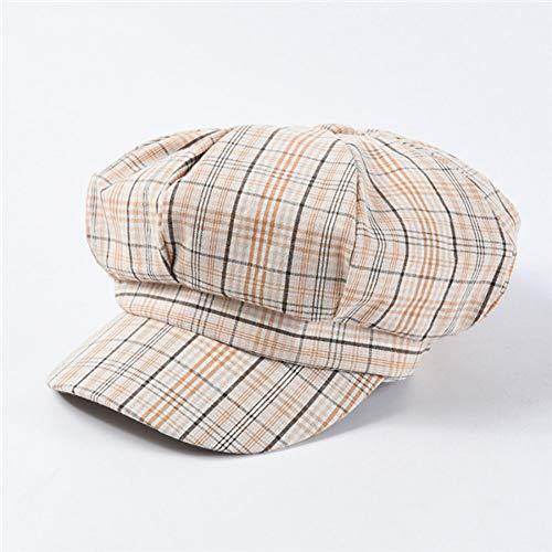 ZYKIMYONG Adjustable Newsboy Caps Plaid Newsboy Caps Striped Octagonal Hats Soft Caps