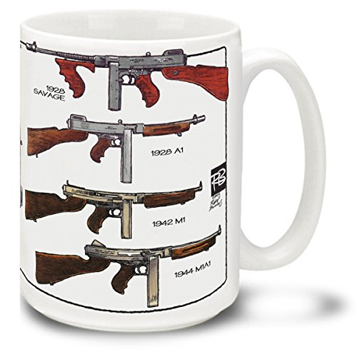 Cuppa Second Amendment Rights 15-Ounce Coffee Mug with Thompson SMG's