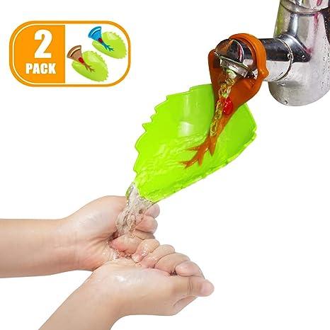 Kinder Wasserhahn Verl/ängerung Wasserhahn Verl/ängerung Kinder,Wasserhahnverl/ängerung F/ür Kinder In Blattform Von Hand Waschen