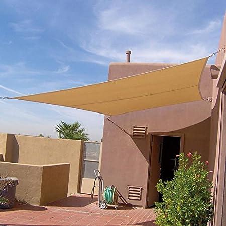 Toldo para Jardín Patio Vela de sombra Cuadrado 6 x 6m Impermeable Color Beige Sun Shade: Amazon.es: Hogar