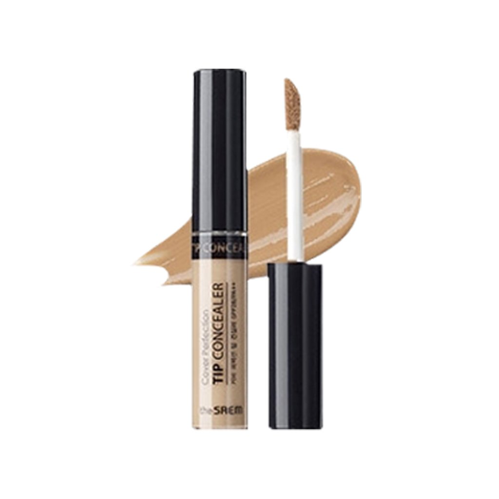 [the SAEM] Cover Perfection Tip Concealer SPF28 PA++ 6.5g (# Contour Beige) - Countouring Conealer, Hairline & Sides of Nose & Cheek Bones