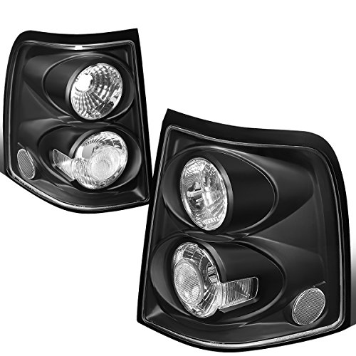 For 2002-2005 Ford Explorer Pair Black Housing Altezza Style Tail Light Brake/Parking Lamps