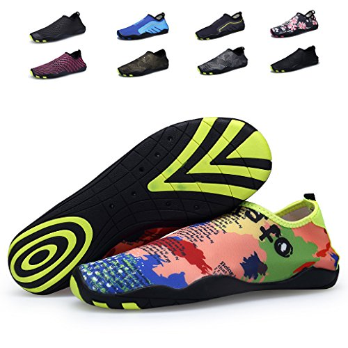 Cool walker Men Women Kids Water Shoes Lightweight Quick Dry Barefoot Aqua Sports Sneaker for Beach Swim,VD01 Camo US7D/8.5B/EU41