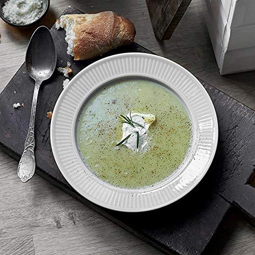 (Pillivuyt, Plissé White Porcelain Soup Bowl/Plate, 8.5 Inch Diameter, 8 Ounces)
