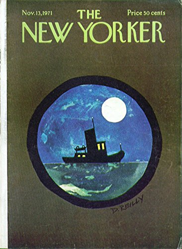 Porthole Cover - New Yorker cover Reilly tugboat in porthole 11/13 1971