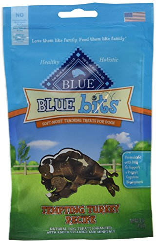 Blue Buffalo Turkey Bits Dog Treats, 2 Packages (Blue Bits Tender Beef Recipe)