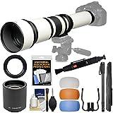 nikon 5300 flash diffuser - Vivitar 650-1300mm f/8-16 Telephoto Lens (White) & 2x Teleconverter (=2600mm) + 3 Color Flash Diffusers + Monopod Kit for Nikon Digital SLR Cameras