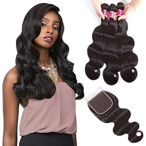 Sky Hair Brazilian Body Wave Bundles With Closure Brazilian Hair Weave Bundles With Closure Human Hair Bundles With Closure