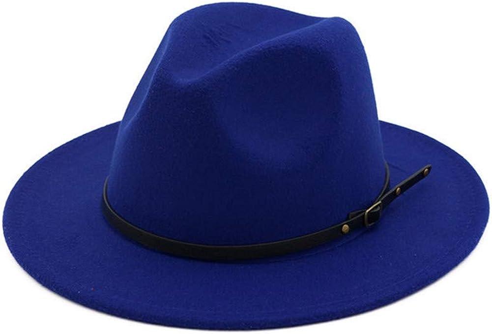 Wide Brim Fedora Hat With...