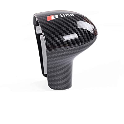 AUTO-P Suitable for Audi Shift knob Cover Shell Interior Modification (ABS Carbon Fiber Plaid) (B): Automotive