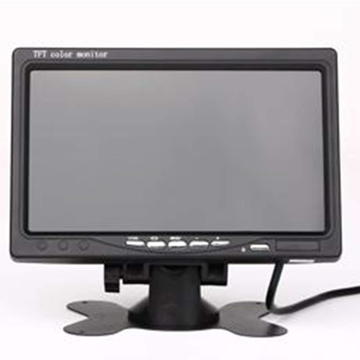 7/écran Couleur LCD HD TFT pour cam/éra de recul cam/éra de recul Voiture de vid/éosurveillance Noir