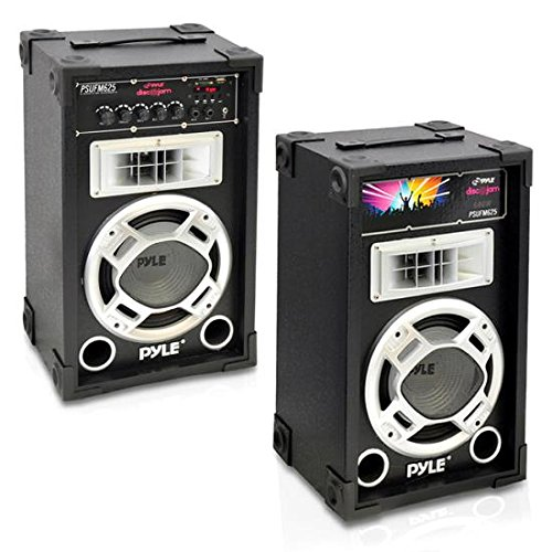 2 Way Active Pa Speaker (Pyle PSUFM625 Disco Jam 600 Watt 2-Way PA Speaker System, SD Card Reader, FM Radio, AUX/MP3 Input, USB Charging)