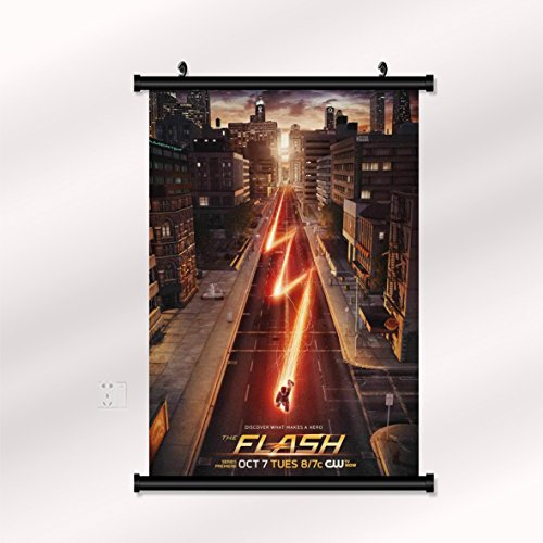 The Flash poster with wall scroll