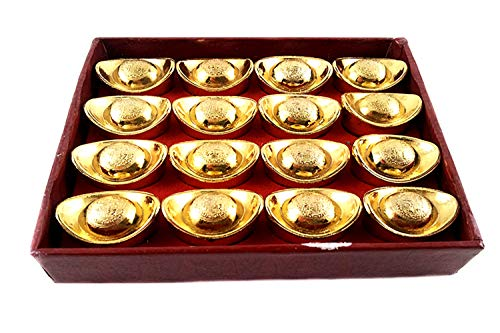 Betterdecor Feng Shui Gold Ingot/Yuan Bao for Wealth Luck (with a Gift Bag)