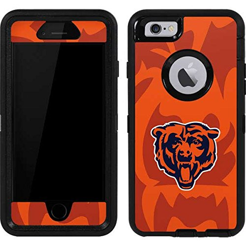 (Skinit Chicago Bears Double Vision OtterBox Defender iPhone 6 Skin for CASE - Officially Licensed NFL Skin for Popular Cases Decal - Ultra Thin, Lightweight Vinyl Decal Protection)