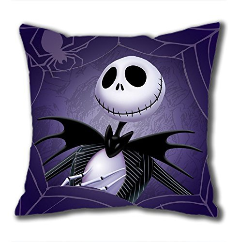 iCustomonline The Nightmare Before Christmas Square Cloth Pillow Cushion Case in 40*40CM / 16*16Inch ()