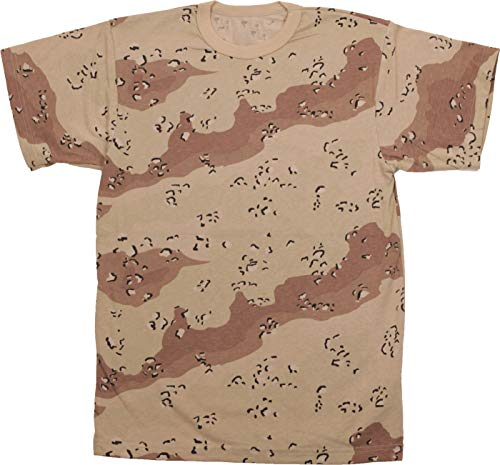 "Army Universe Desert Chocolate Chip Camouflage Short Sleeve T-Shirt Pin - Size Large (41""-45"")"