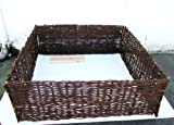 Master Garden Products Deep Woven Willow Raised Bed, 48 x 48 x 18-Inch
